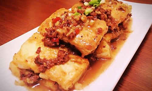 黑椒牛肉豆腐的做法