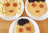 #夏日撩人滋味#一家三口新手快速早餐,鸡蛋米饭饼的做法