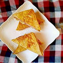 香蕉西多士(无油低卡健身餐)
