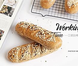 蜂蜜全麦面包棒【三明治面包胚】#好吃不上火#的做法