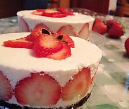 草莓冻芝士蛋糕的做法