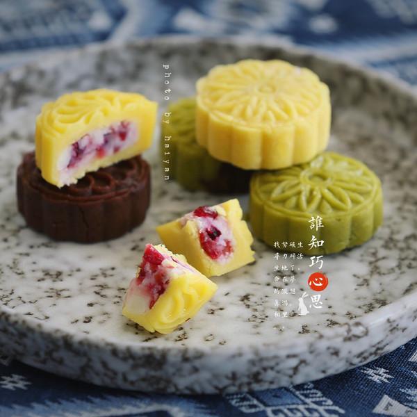 山药蔓越莓馅绿豆糕的做法