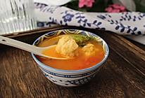 涮烤番茄鸡肉丸子汤#童年不同样,美食有花样#的做法