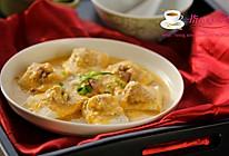 咸蛋黄豆腐酿丸子的做法