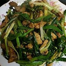 青蒜豆豉炒肉