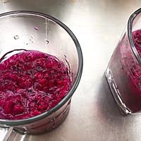 #夏日开胃餐#火龙果桑葚益生菌饮品的做法图解3
