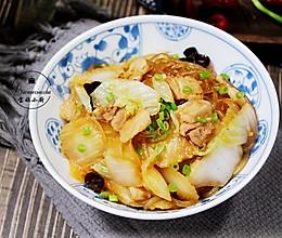白菜不出汤做法~白菜木耳炒粉条的做法