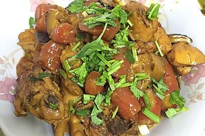 胡萝卜香菇烧鸡 营养美味