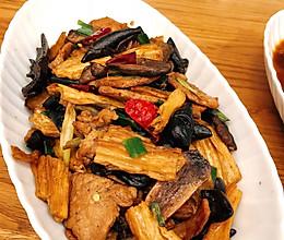 肉炒腐竹的做法