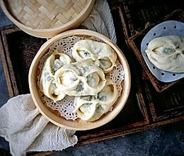 #晒出你的团圆大餐#纯天然青萝卜苗蒸包的做法