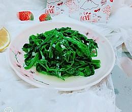 清香素炒豌豆尖的做法