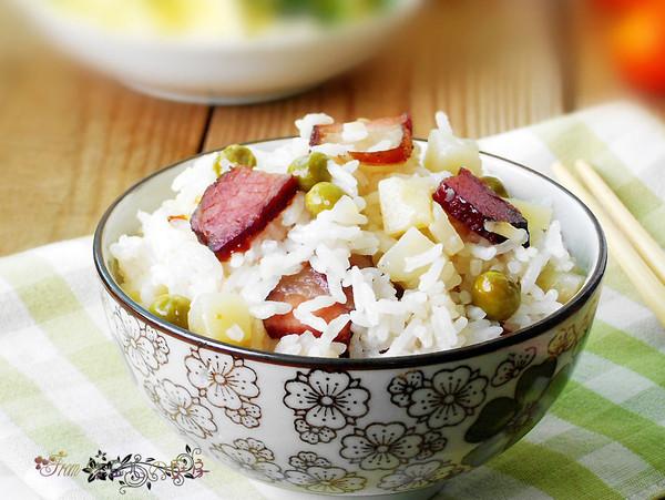 腊肉土豆饭的做法