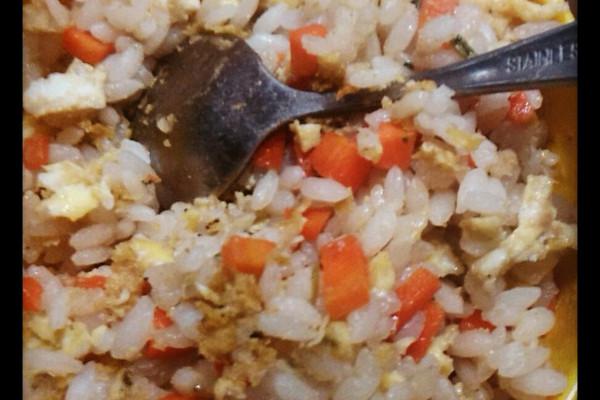 懒人鸡蛋胡萝卜闷饭。的做法