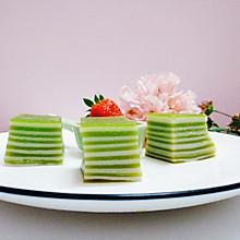 #做道懒人菜,轻松享假期#抹茶椰汁千层糕