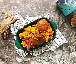 螃蟹炖南瓜#晒出你的团圆大餐#的做法