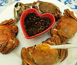 清蒸螃蟹的清洗,做法与吃法的做法