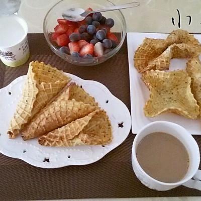 薄脆水果甜筒的做法 步骤7