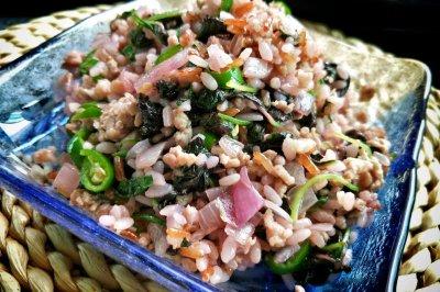 懒人福利——苋菜肉碎炒饭