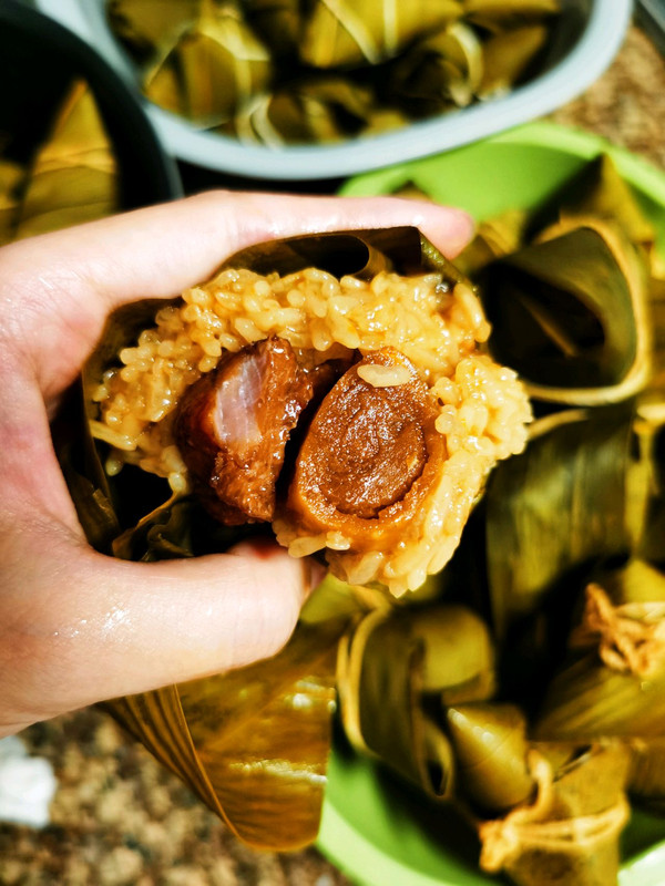 鲜肉蛋黄粽 鸡腿肉粽  红枣绿豆红豆粽