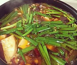 猪血炖豆腐的做法