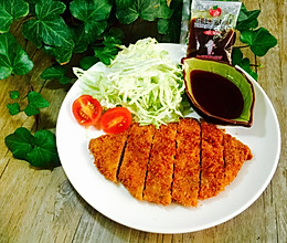 日式炸猪排#丘比沙拉汁#的做法