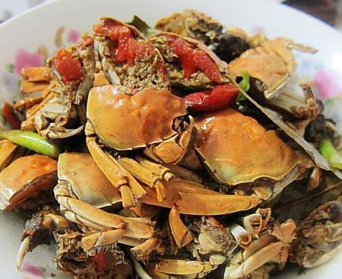 红烧小螃蟹的做法