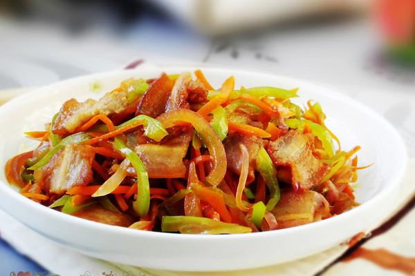 三丝炒五花肉的做法