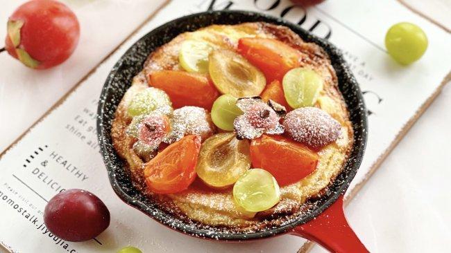 """""""柿柿如意""""荷兰松饼+猕猴桃冰糖梨汁,秋日里的高颜值早餐!的做法"""
