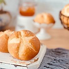 简单的烫种法花样小面包