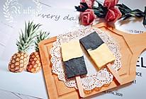 冰棍?吐司?来点不一样的黑芝麻酱双色蒸蛋糕的做法