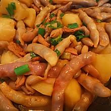 红金勾豆角炖土豆