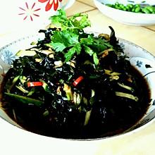 黄瓜拌海藻