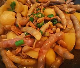 红金勾豆角炖土豆的做法