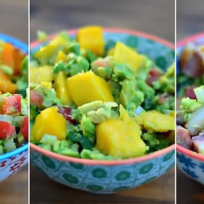 3种鳄梨酱 guacamole ,教你怎么吃牛油果