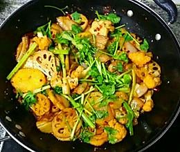 香辣干锅五花肉的做法