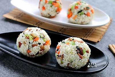 蔬菜腊肉饭团#美的早安豆浆机#