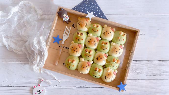 青蛙凯蒂挤挤包(一次发酵)#网红美食我来做#