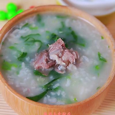 肉骨头青菜粥