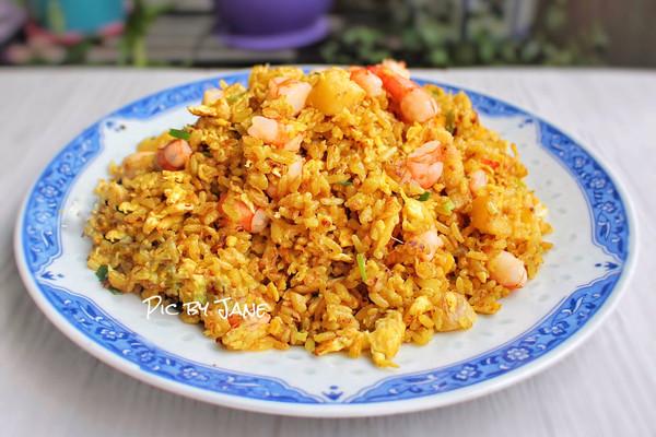 菠萝咖喱炒饭