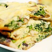 菠菜蘑菇奶酪蛋饼-迷迭香的做法图解10