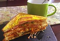 玉米火腿三明治的做法