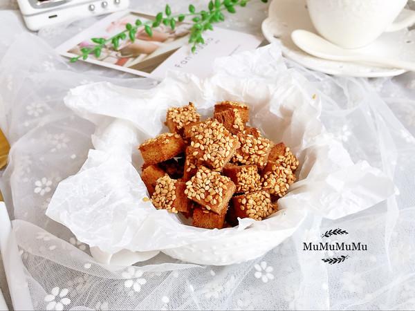 一口一个的黄油芝麻吐司酥粒—自制快手小零食的做法