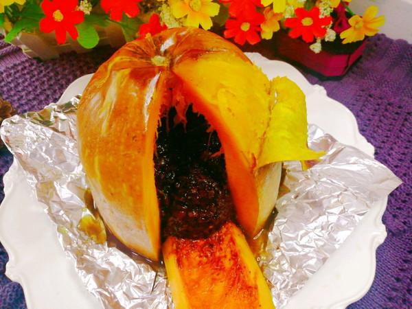 母亲节特辑双糯米红豆南瓜盅(烤箱版)的做法