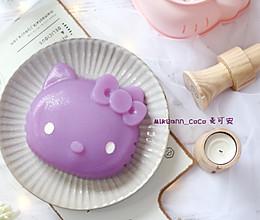 #洗手作羹汤#粉嫩粉嫩的Hello Kitty果蔬紫凉粉的做法