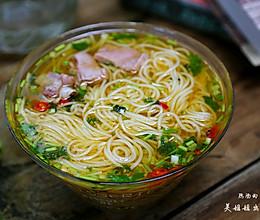 热汤面-----秋冬季来碗热汤面暖暖胃吧的做法