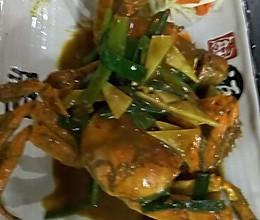 咖喱炒毛蟹的做法