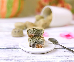 糯米紫薯小蛋糕的做法