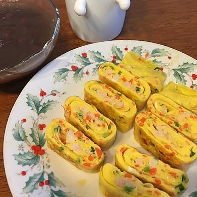 鸡蛋卷虾仁