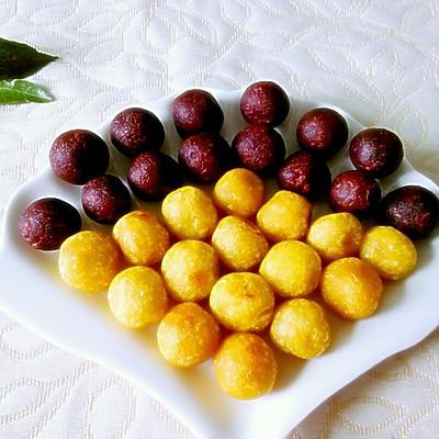 紫薯红薯丸