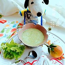 米粉生菜鸡茸粥#嘉宝辅食宝典#